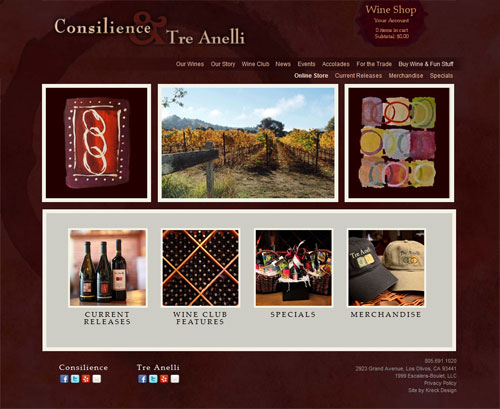Consilience Tre Anelli E-Commerce